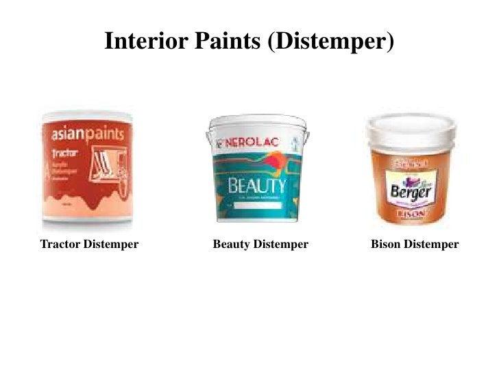 Interior Paints (Distemper)Tractor Distemper    Beauty Distemper   Bison Distemper