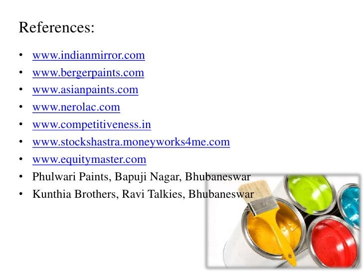 Indian decorative paint industry