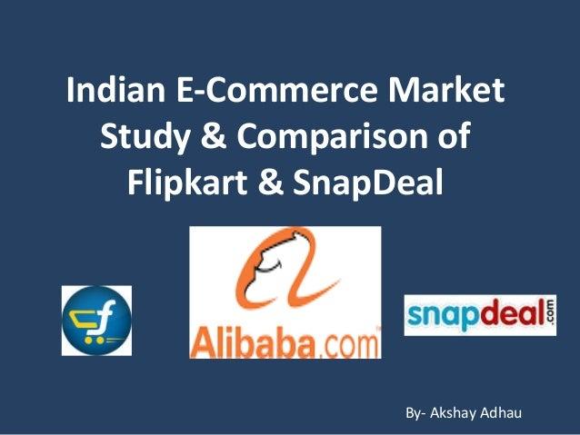 543280686 Indian e commerce market   comp. of flipkart   snapdeal