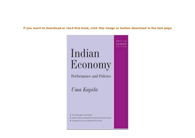 Download P D F Indian Economy Performance And Policies Full P
