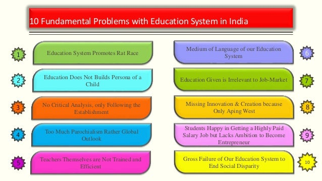 an examination of the education system in india New education policy new india reforming school examination cce system should be required full staff in school and old examination system should be.