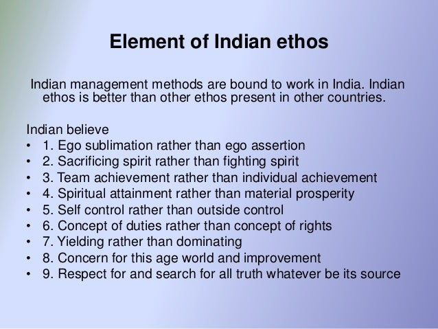 management concept and indian ethos pdf