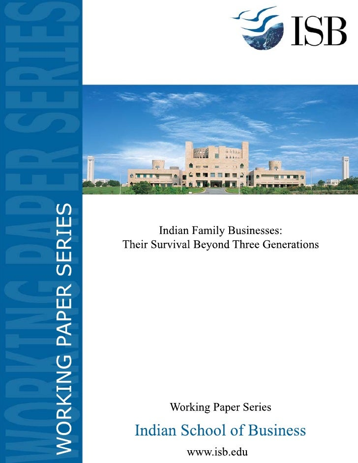 Indian Family Businesses: Their Survival Beyond Three                    Generations                   K. Ramachandran    ...
