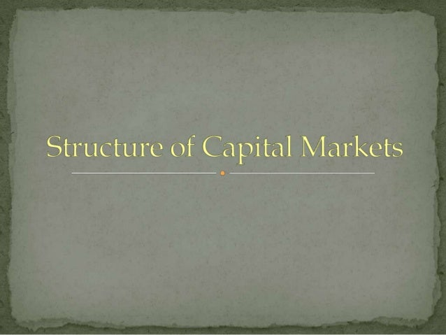 Primary Markets                               Secondary MarketsWhen companies need financial resources        The place wh...