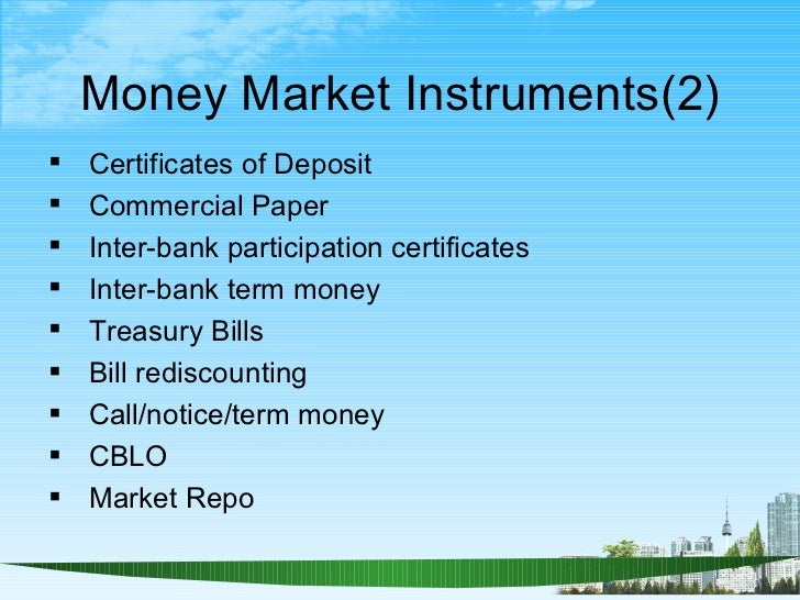 components of indian financial system Components, submarkets of indian money market ↓ after studying above organisational chart of the indian money market it is necessary to understand various components or sub markets within it.