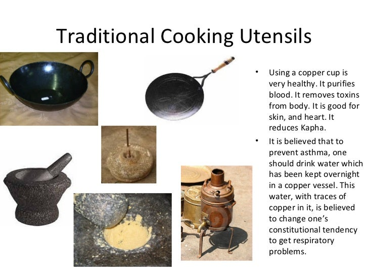 Indian food culture traditions and their role in for Traditional kitchen equipments