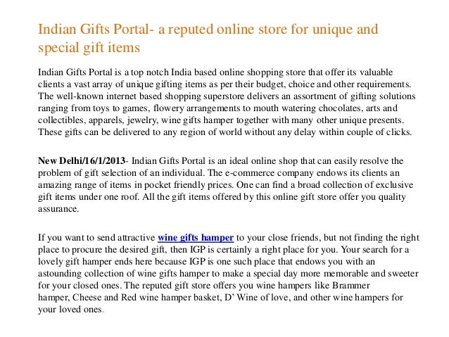 Indian gifts portal a reputed online store for unique and special gi…
