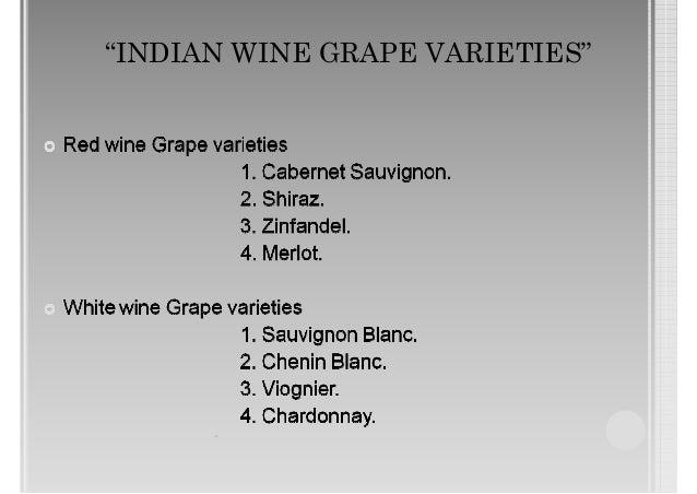 Indian Grape Varieties