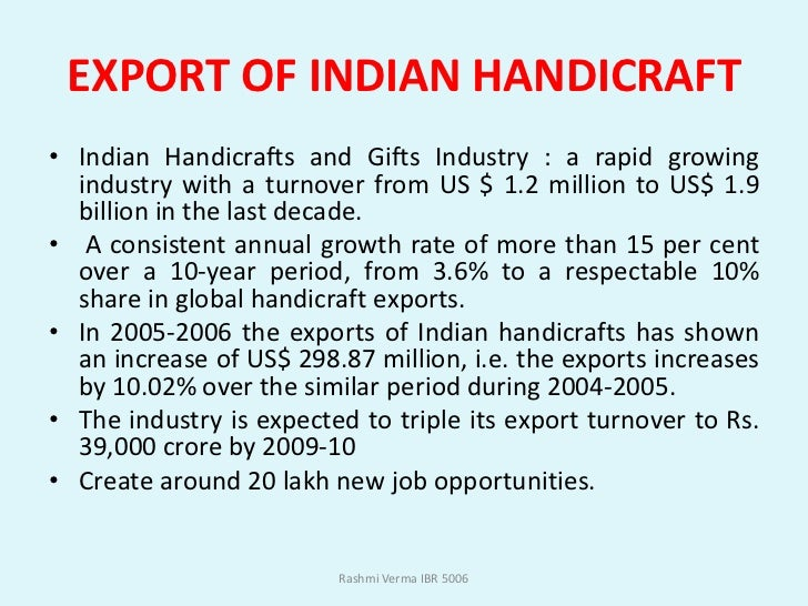 Indian Handicraft Ppt