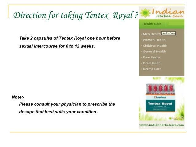 Tentex Royal Dosage
