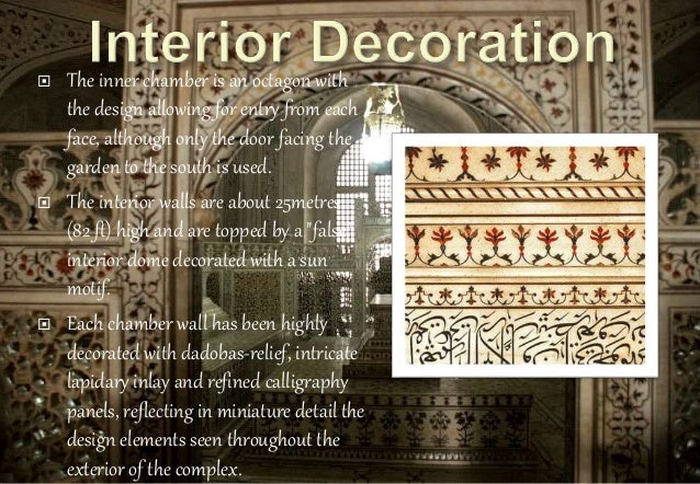 Taj mahal interior decoration