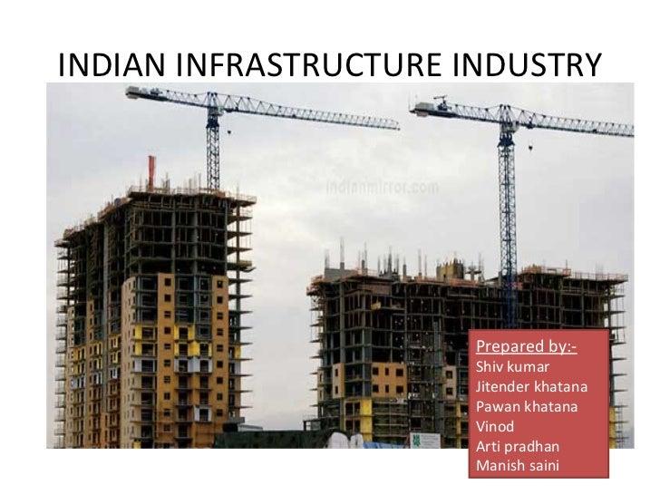 INDIAN INFRASTRUCTURE INDUSTRY Prepared by:- Shiv kumar Jitender khatana Pawan khatana Vinod Arti pradhan Manish saini