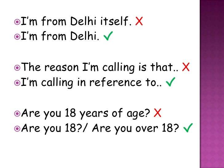 Indianism In General Conversation