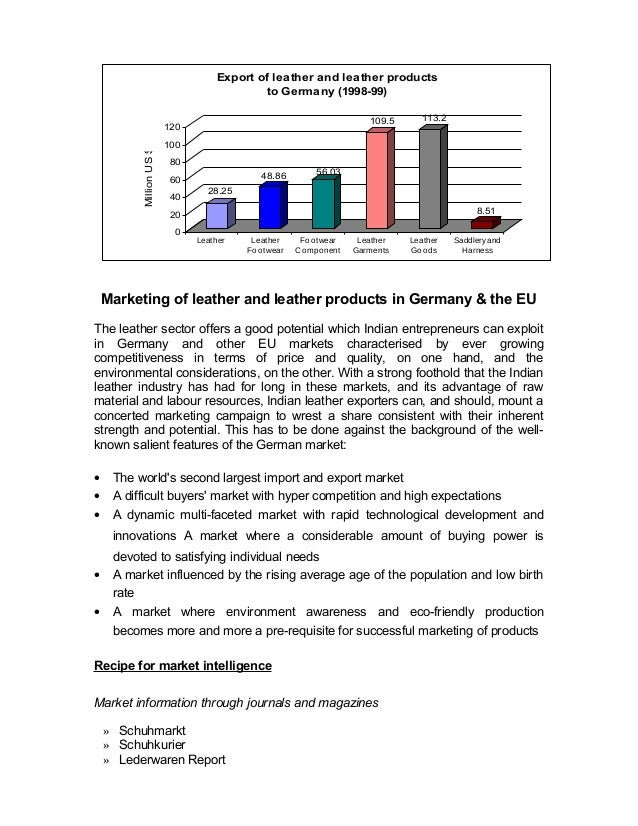 28.25  48.86 56.03  109.5 113.2  120  100  80  60  40  20  Marketing of leather and leather products in Germany & the EU  ...