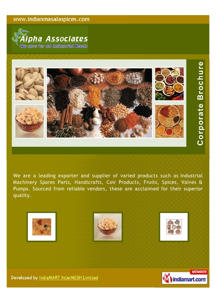 Alpha Associates Coimbatore Industrial Products