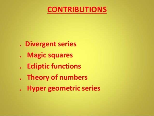 Contributions of ramanujan and aryabhata to mathematics Essay Sample
