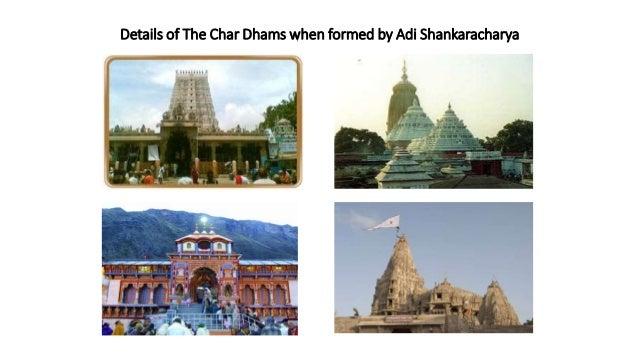 Details of The Char Dhams when formed by Adi Shankaracharya