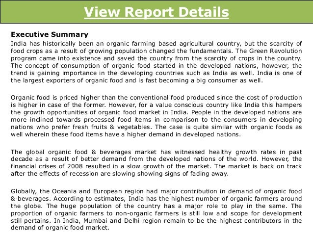 organic food industry in india Record growth of organic food consumption in the in what is more good news for the organic industry according to india organic food market forecast.