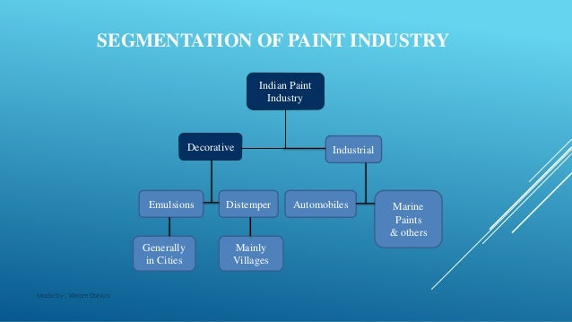 segmentation of decorative paints sector marketing essay Iu kokomo bulletin 2015-2016  theories and applied approaches for health communications with emphasis on social marketing,  study and practice of the essay.