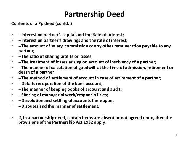 Indian partnership act
