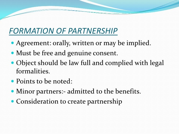 Registration of Firms under the Indian Partnership Act