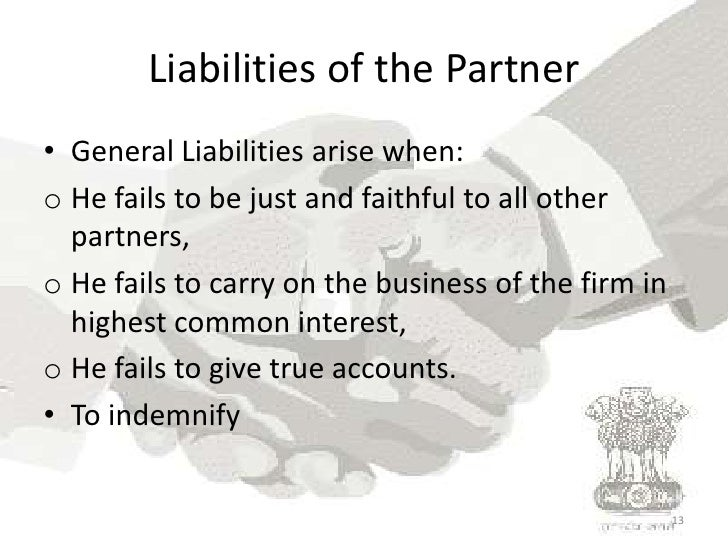 rights duties and liabilities of partners