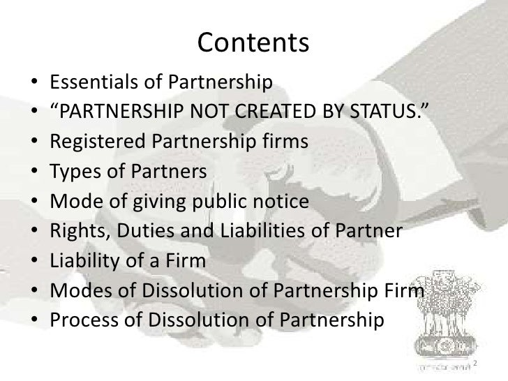 indian partnership act 1932 It shall come into force on the 1st day of october, 1932, except section 69, which shall come into force on the 1st day of october, 1933 state amendments dadra and.
