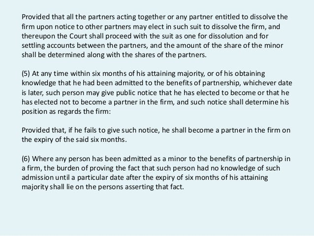 indian partnership act 1932 essay The law of partnership is contained in the indian partnership act, 1932, which  came into force on 1st oct, 1932this is based on the english law on the subject .