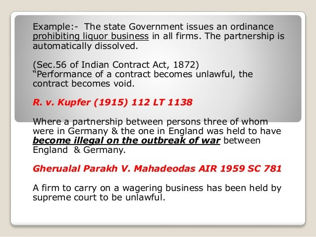 partnership act 1932 The indian partnership act, 1932 33 accordingly, it is possible for the majority of partners in a firm to expel a partner but it is subject to fulfillment of other.
