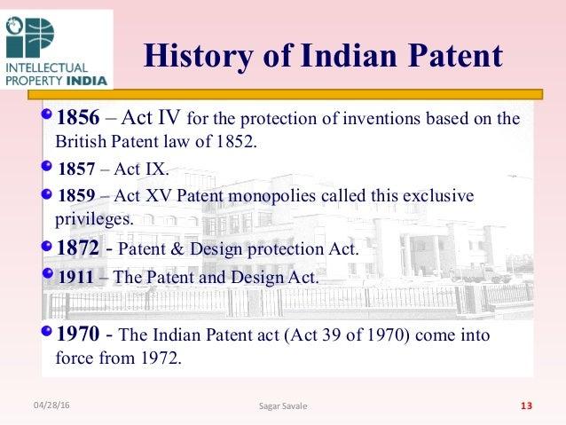 history of indian patent 12042816 sagar savale 13