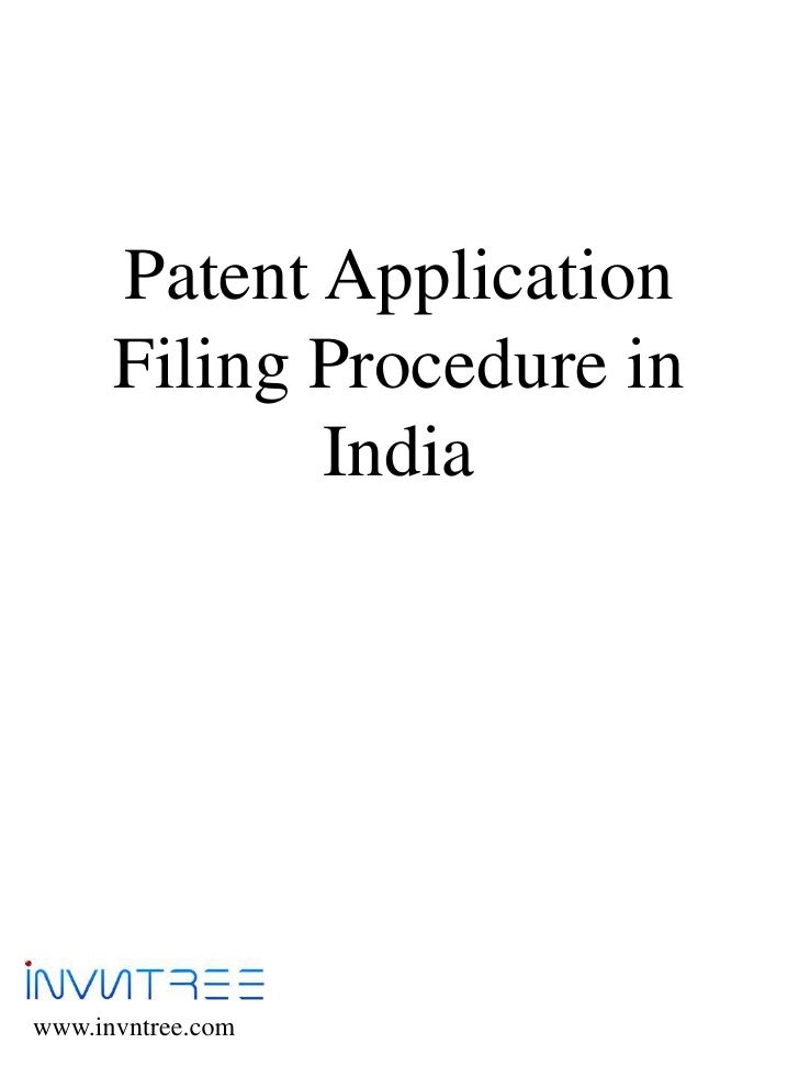procedure for filing patent application