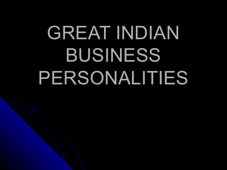 Famous Indian Business personalities