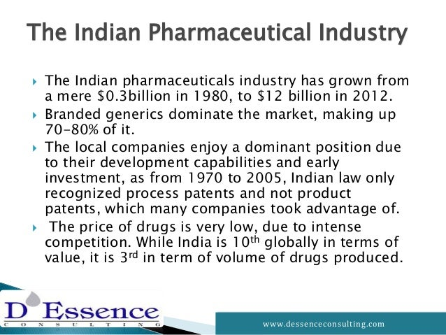 the indian pharmaceutical industry The indian pharmaceutical industry is about $ 17 bn industry (2016) with as many as 20,000 registered companies (includes mnc's and small scale units) directly or indirectly involved in the business of selling medicines.
