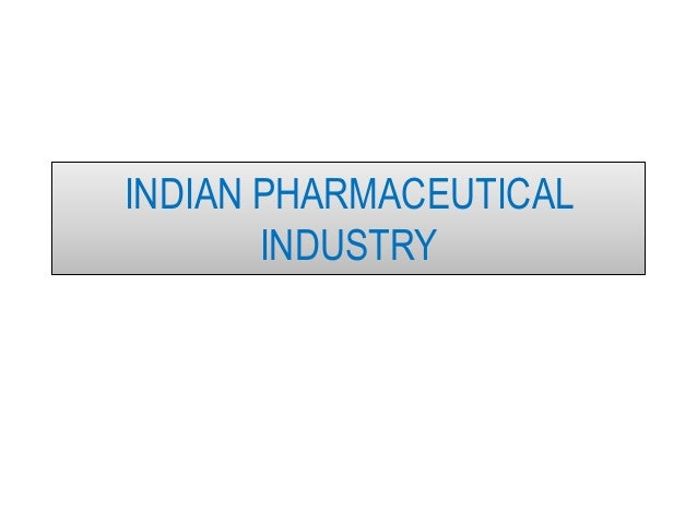 Indian pharmaceutical industry pdf