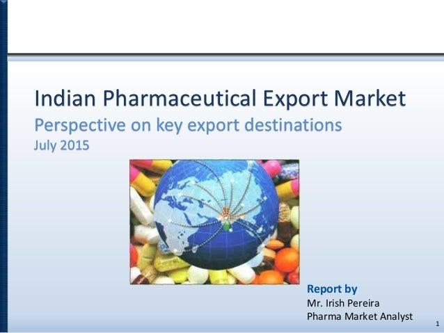 Indian Pharmaceutical Export Market - Top Export