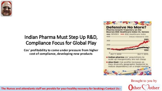 Indian Pharma Must Step Up R&D, Compliance Focus for Global Play Cos' profitability to come under pressure from higher cos...