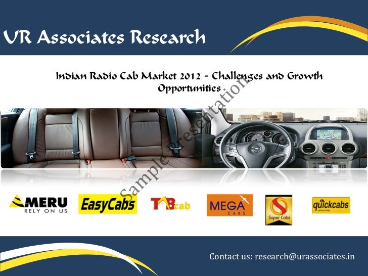 UR Associates Research     Indian Radio Cab Market 2012 - Challenges and Growth                             n             ...