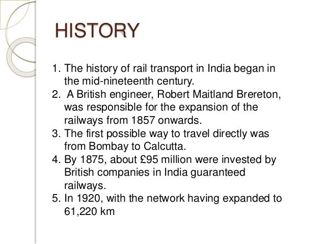 history of indian railways