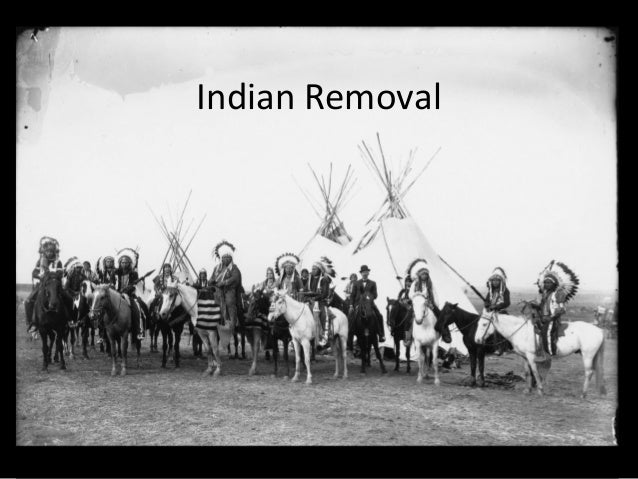an introduction to the history of removal act of 1830