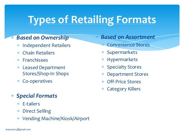 types of organised retailing in india The competitive response of small, independent retailers to organized retail: study in an emerging economy.