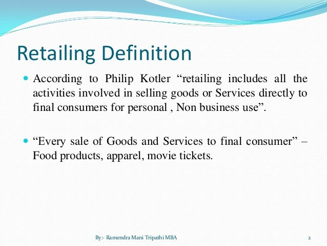 Retail And Food Services Sales Definition