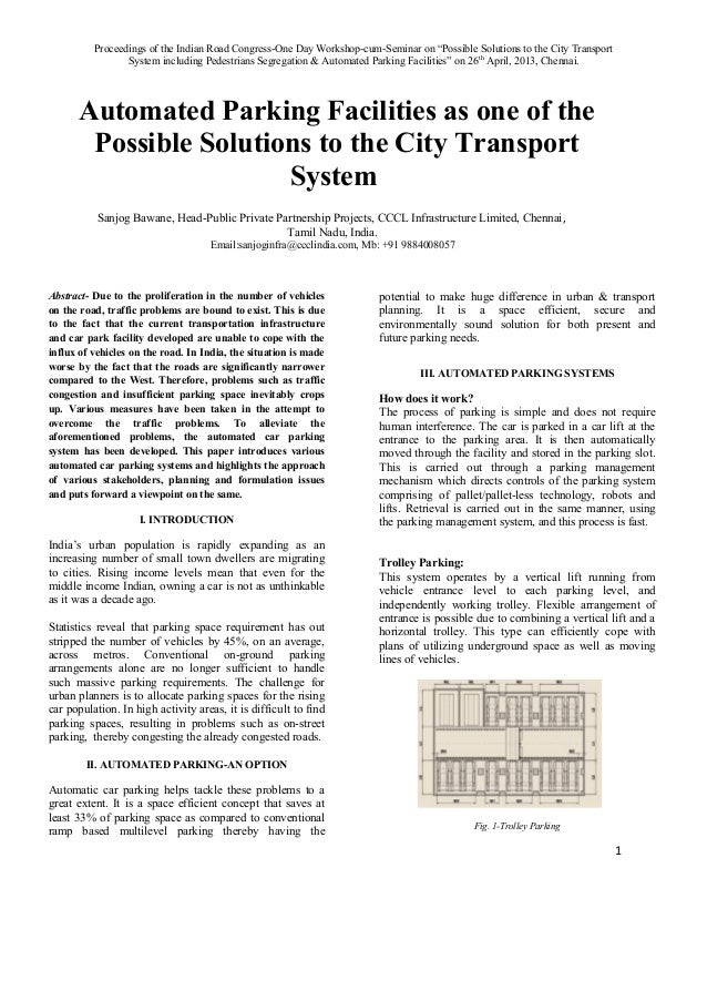 """Proceedings of the Indian Road Congress-One Day Workshop-cum-Seminar on """"Possible Solutions to the City TransportSystem in..."""