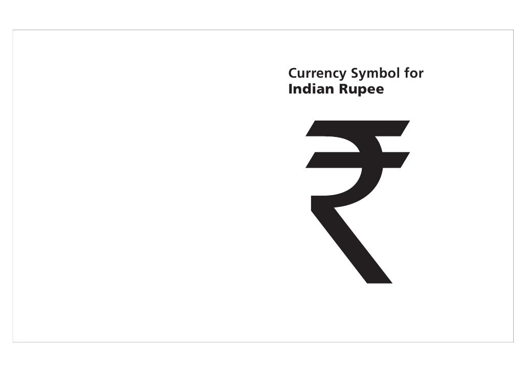 Presentation Of Indian Rupee Symbol