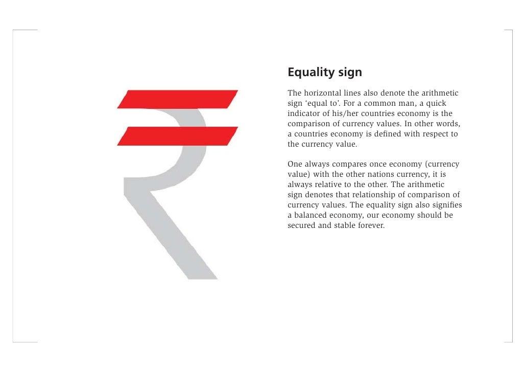 Presentation Of Indian Rupee Symbol