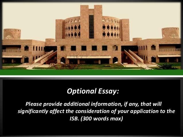 Isb essays 2013-14