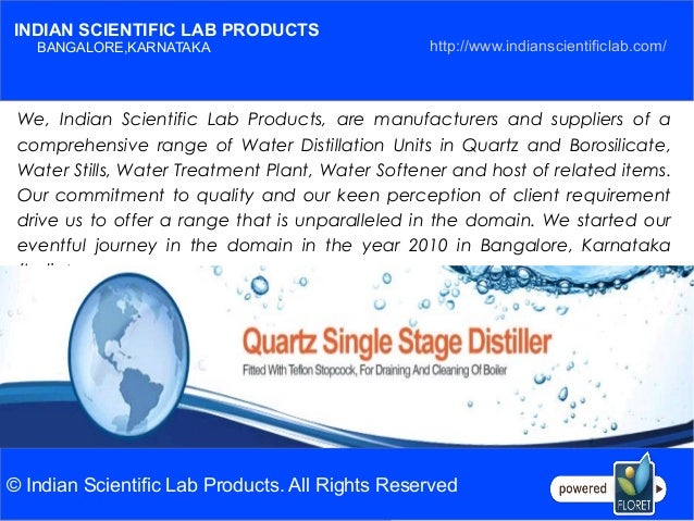 INDIAN SCIENTIFIC LAB PRODUCTS - GLASS DISTILLER Slide 2