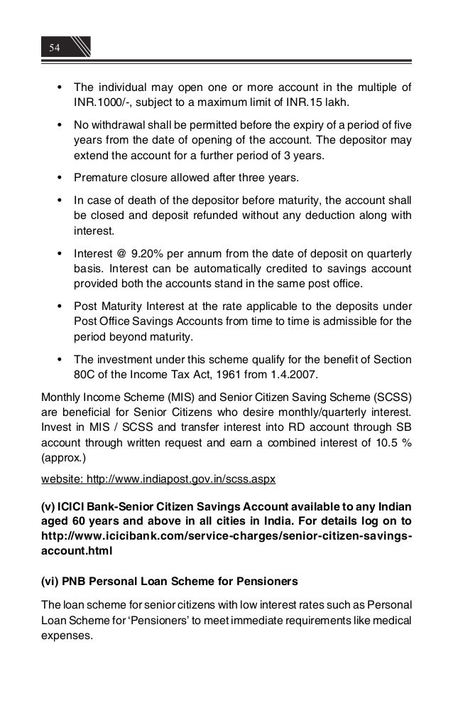 Indian senior citizens welafare schemes and concessions