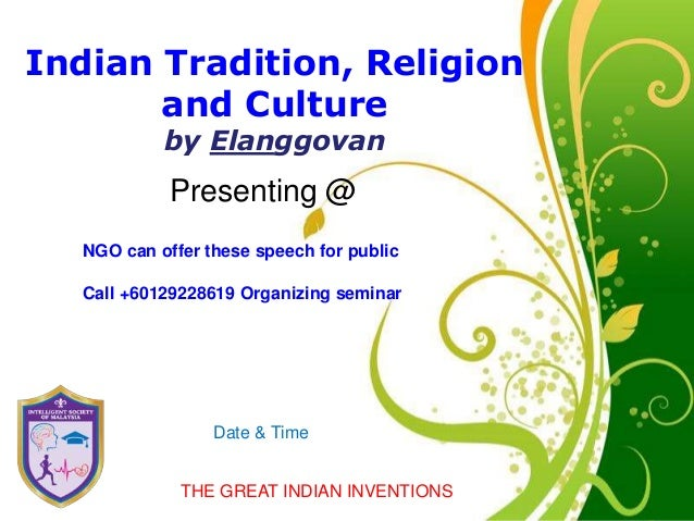 Scientific indian tradition religion and culture click here to download this powerpoint template green floral free powerpoint template for more toneelgroepblik Images
