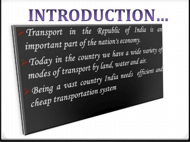 Indian transportation system