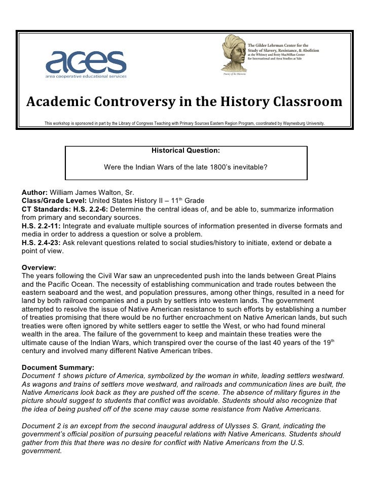 Academic Controversy in the History Classroom       This workshop is sponsored in part by the Library of Congress Teaching...
